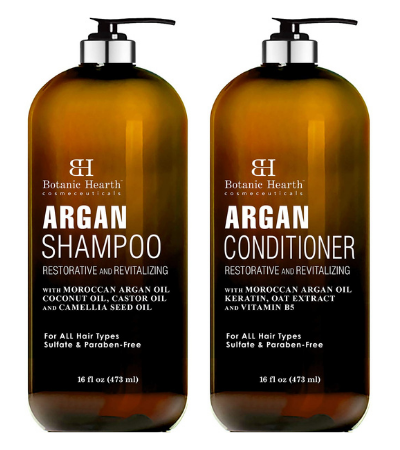 BOTANIC HEARTH Argan Oil Shampoo & Conditioner Set Review