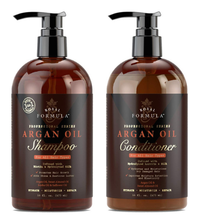 ROYAL FORMULA Moroccan Argan Oil Shampoo and Conditioner Set