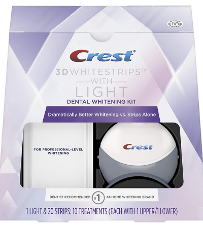 Crest 3D Teeth Whitening Strips Kit with Light